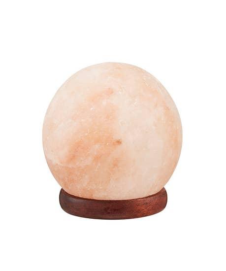 Sunkissed Salt Rock Sphere Lamp