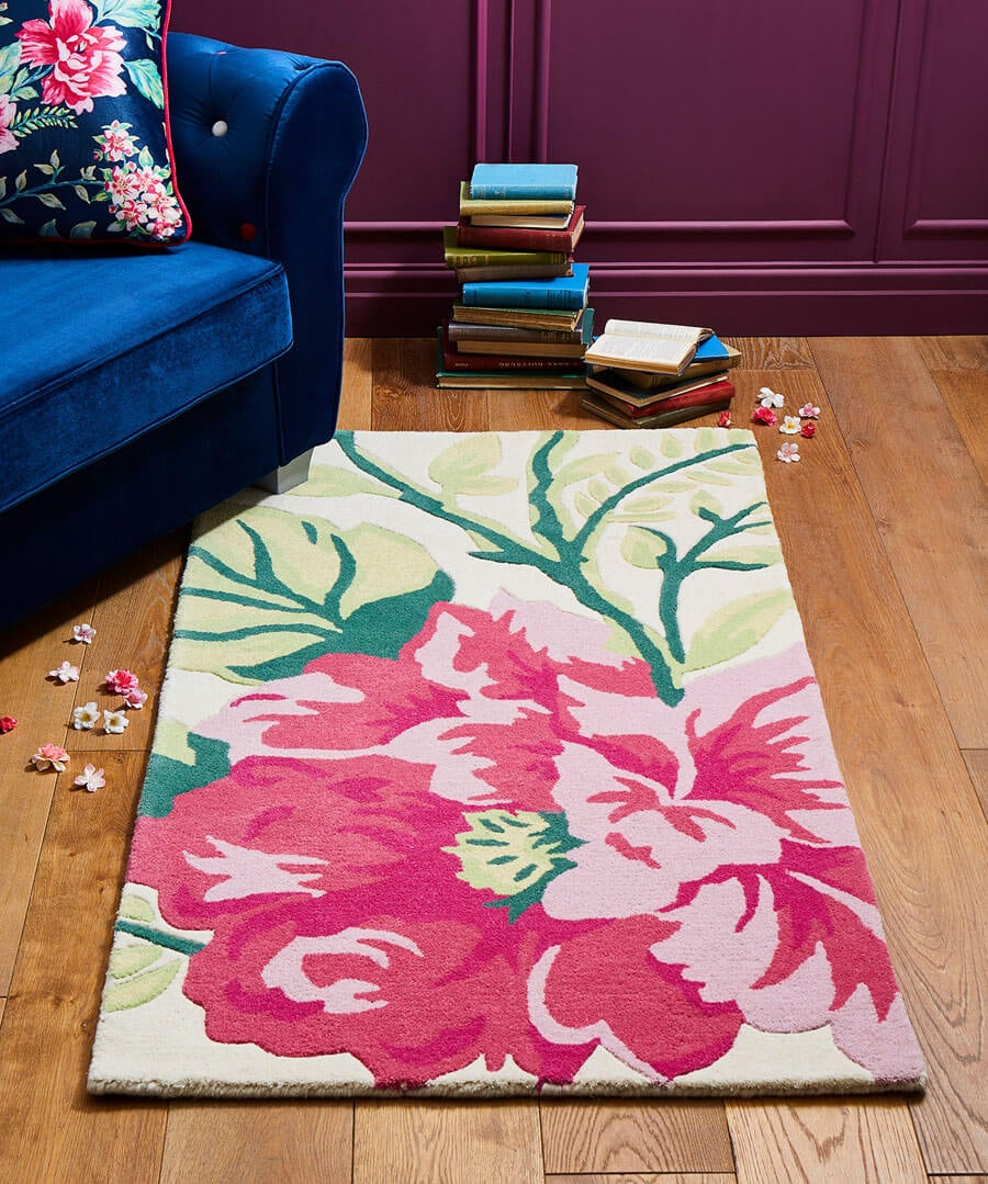 Floral Trail Wool Rug (Large) Back