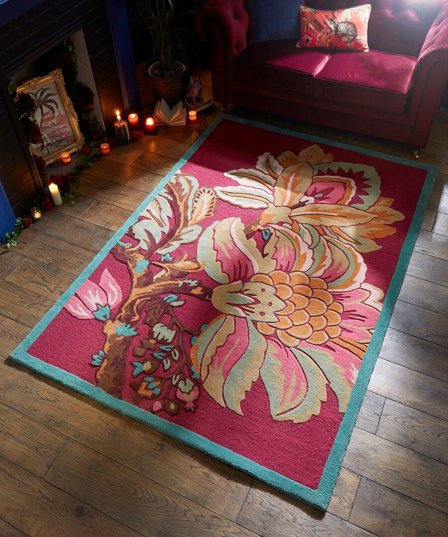 Floral Tufted Rug (Small) Back