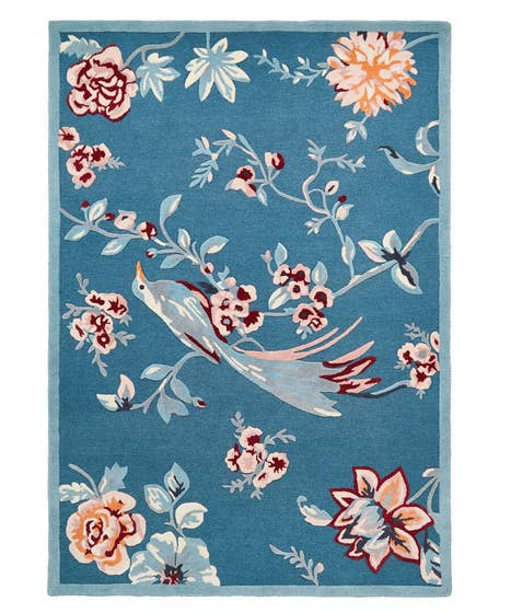Tufted French Blossom Bird Rug (Medium)