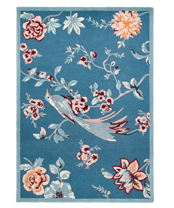 Tufted French Blossom Bird Rug (Medium)