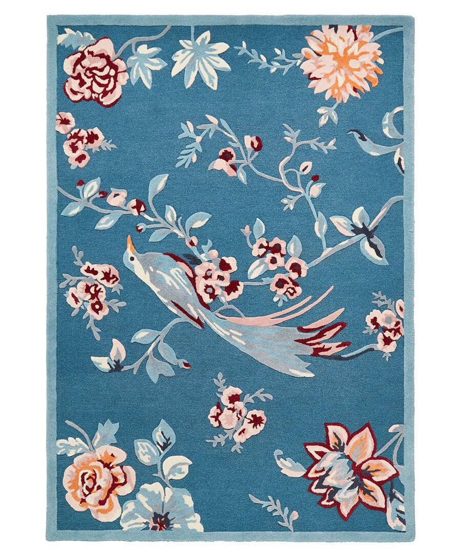 Tufted French Blossom Bird Rug (Large) Model Front