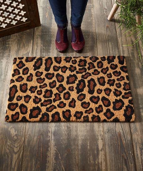 Lavish Leopard Print Doormat