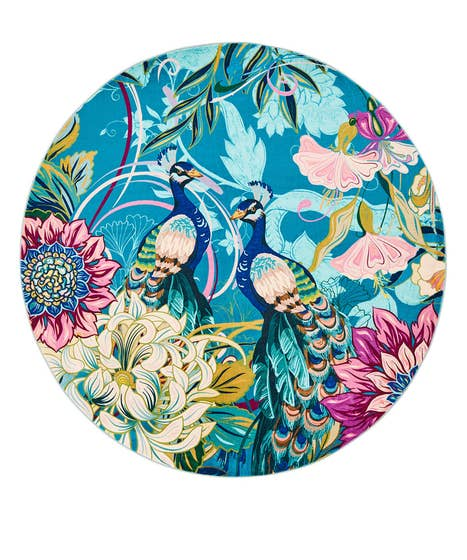 Perfect Peacock Round Rug