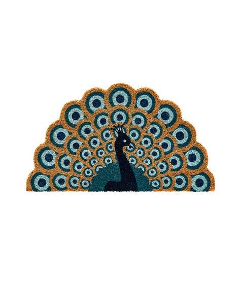 Perfect Peacock Shaped Doormat