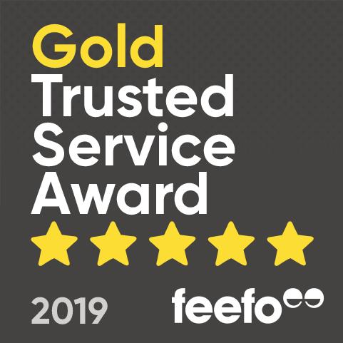 Feefo Gold Merchant Award Standard