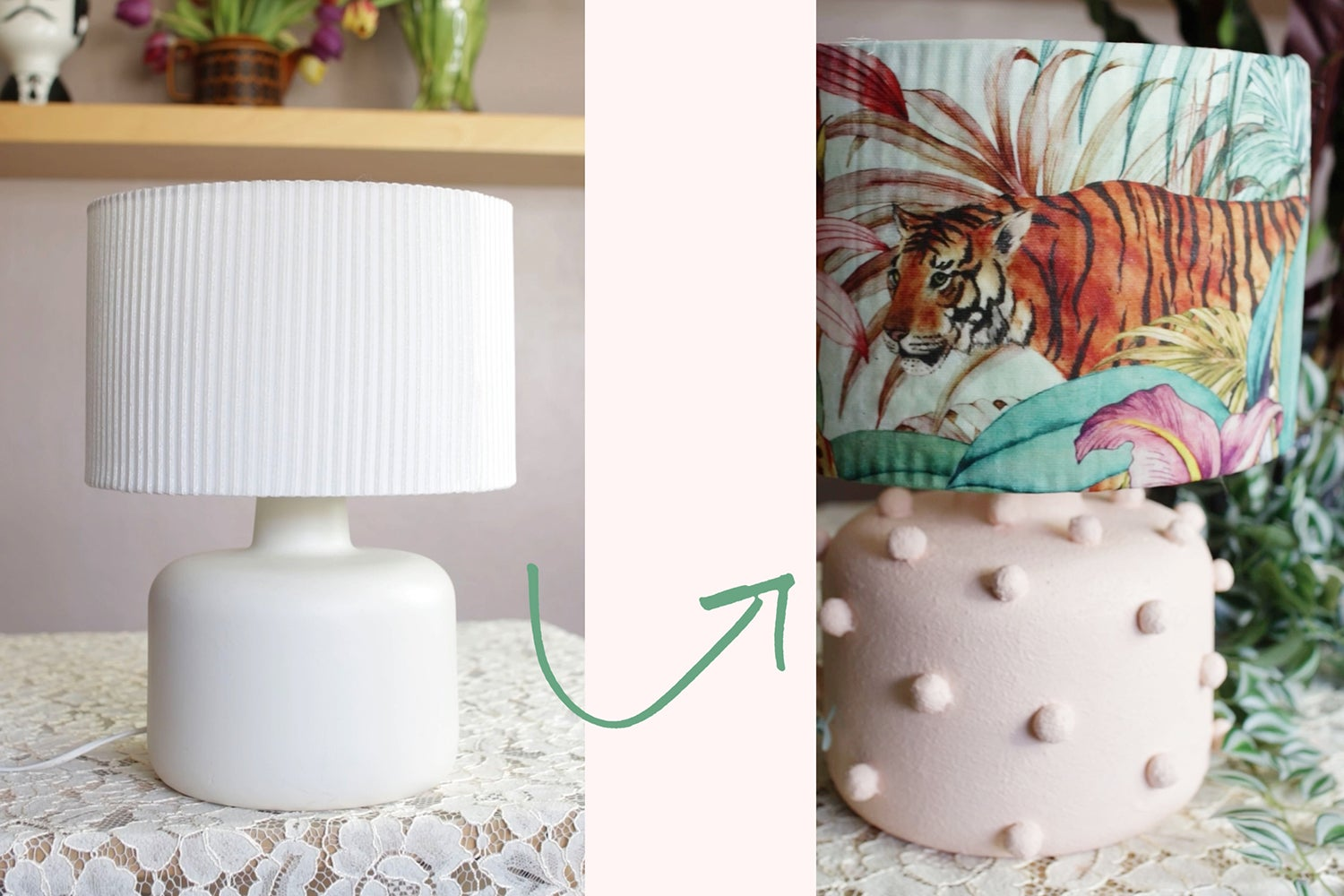 Let's Get Crafty: How to upcycle a lamp with a Joe Browns twist!