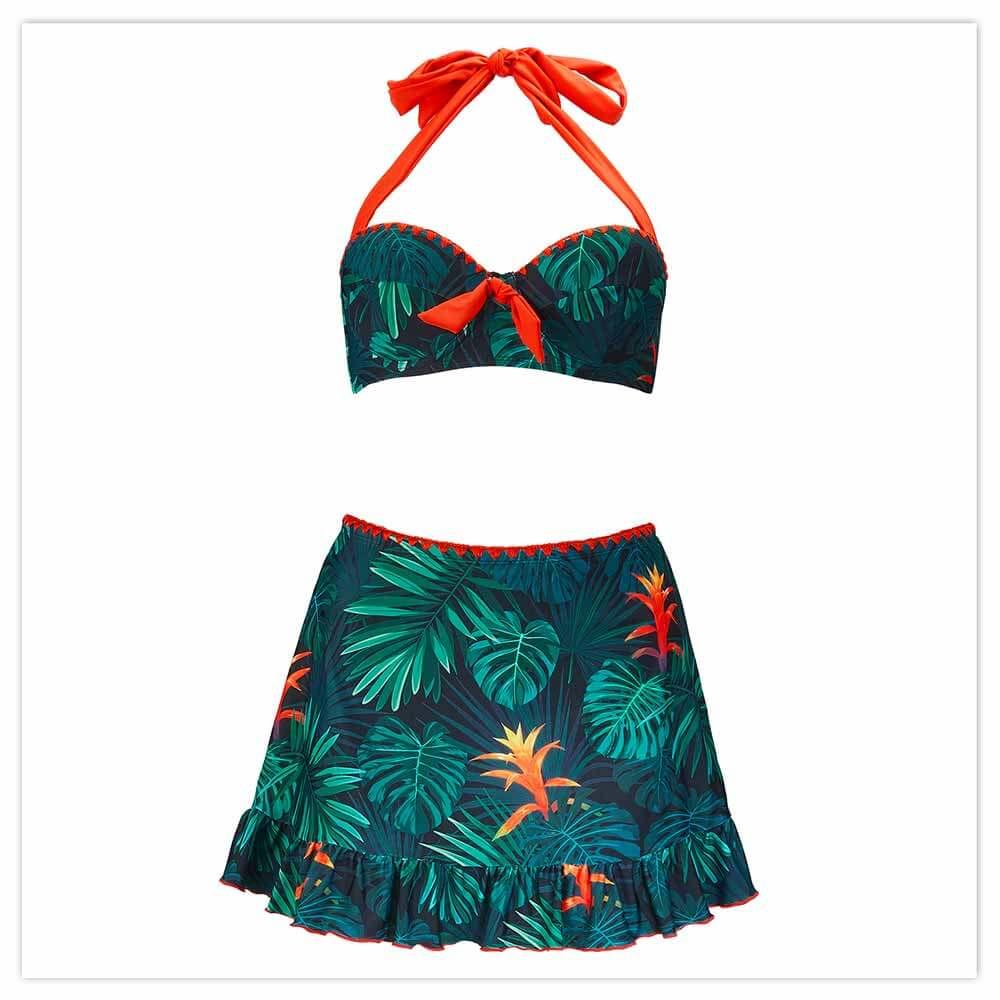 Vintage Palm Skirt Bikini