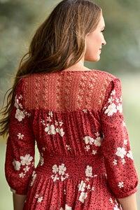 Joe Browns Beautiful Boho Dress Lace Back Detail