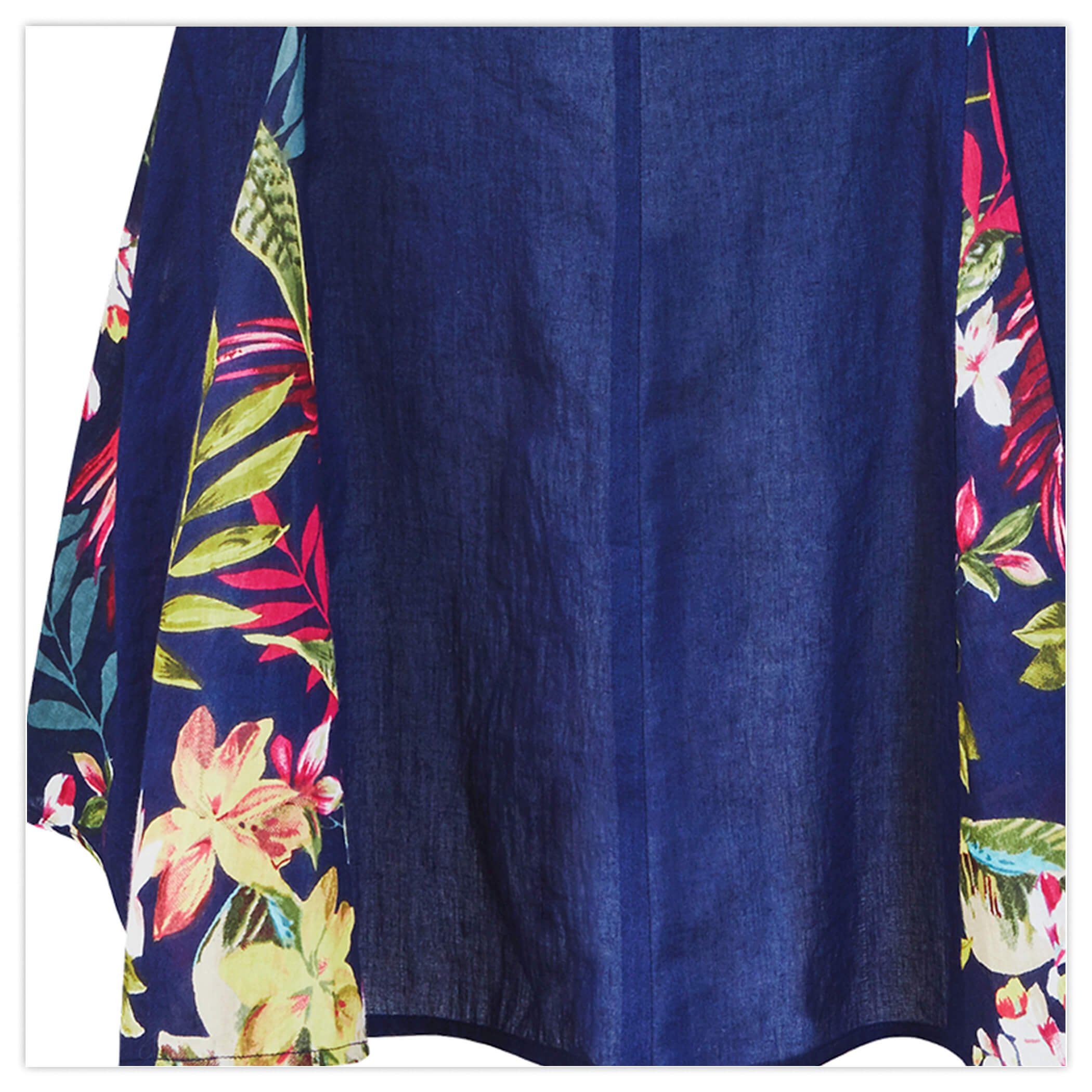 EMBROIDERED GODET TUNIC