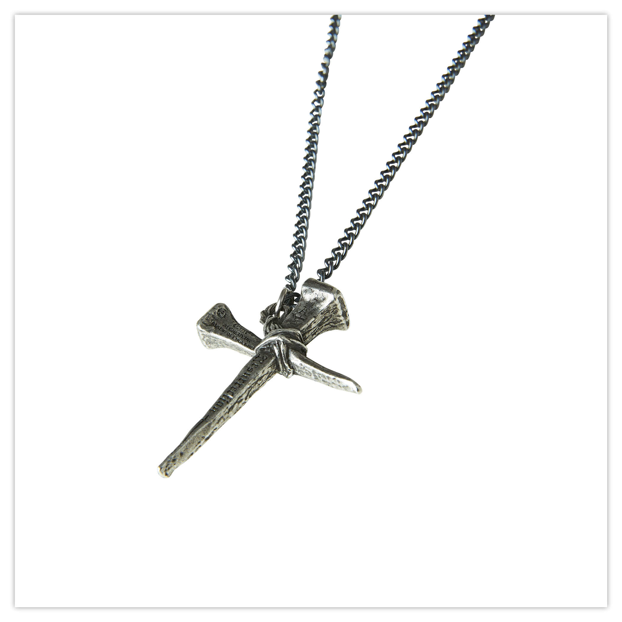 Joe Browns Pewter Cross Chain