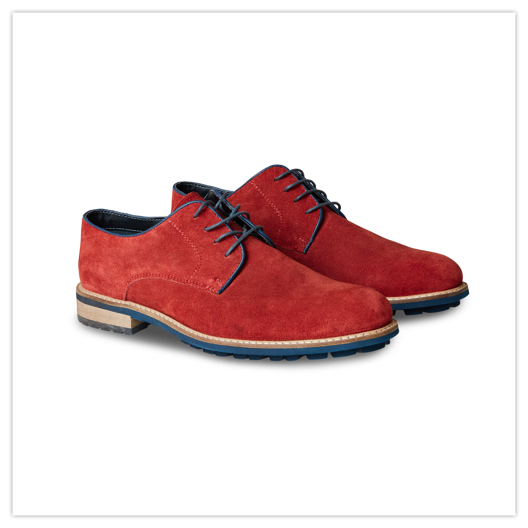 Joe Browns Naples Red Suede Derby Brogues