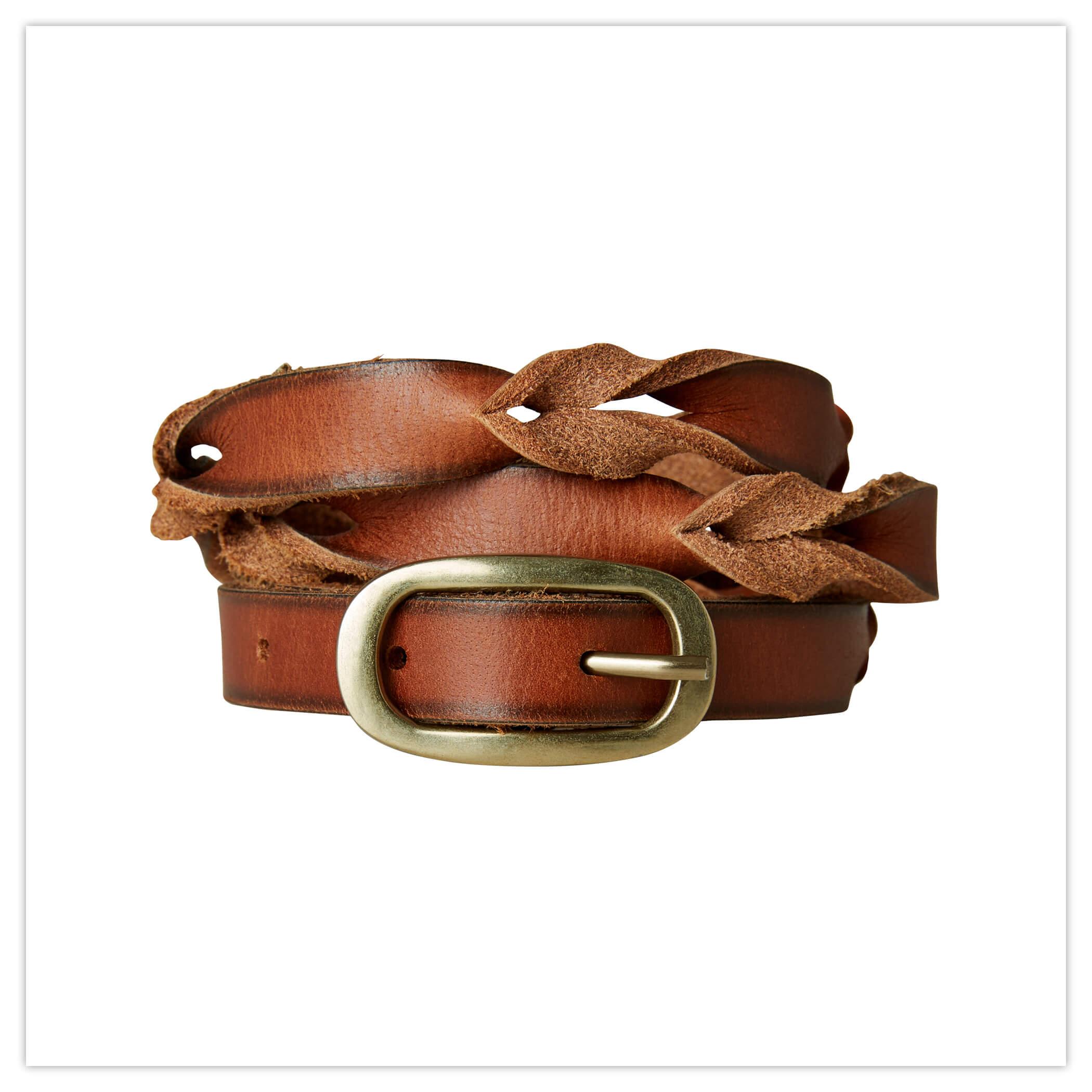 Joe Browns Slim Plaited Leather Belt