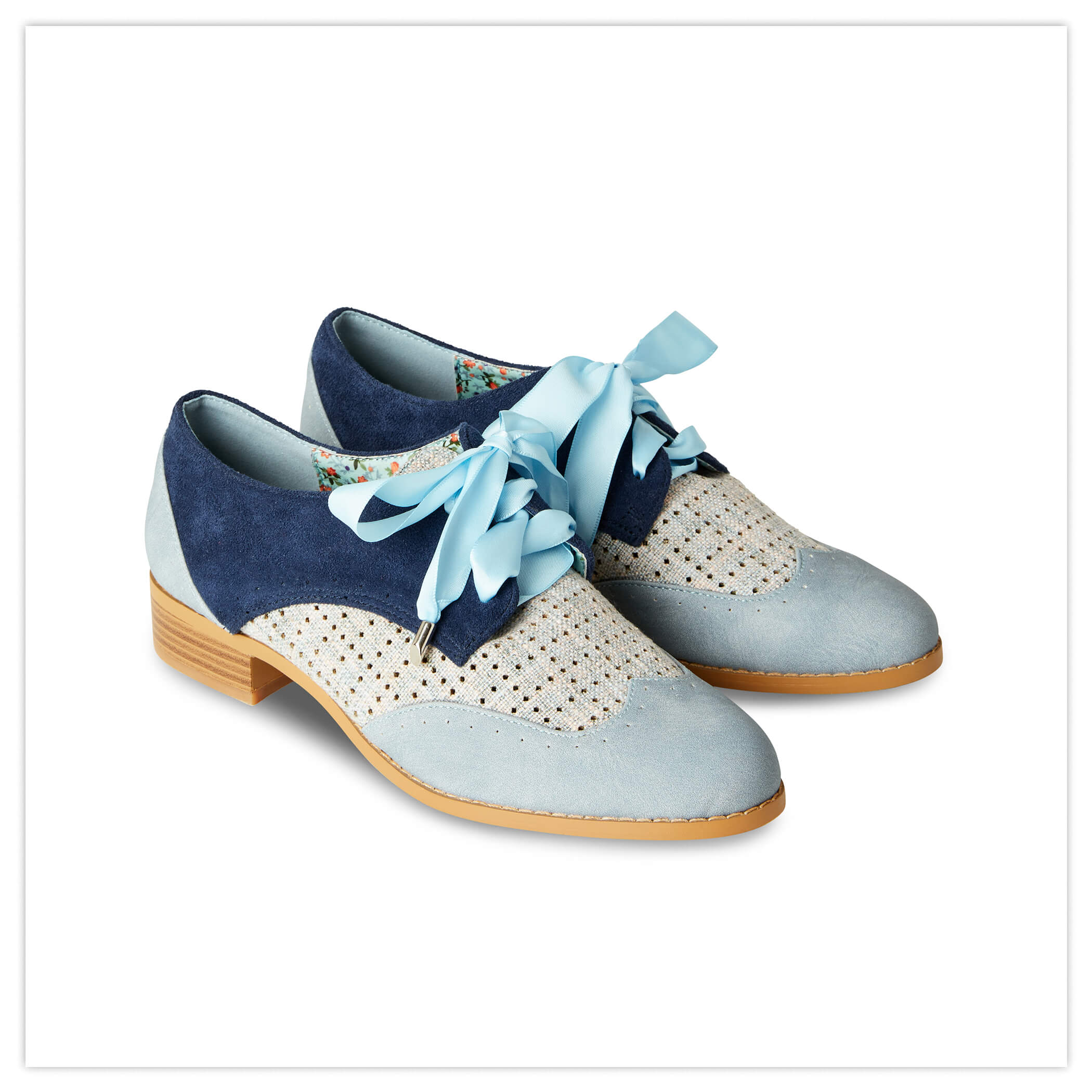 Blue Street Lace Up Shoes