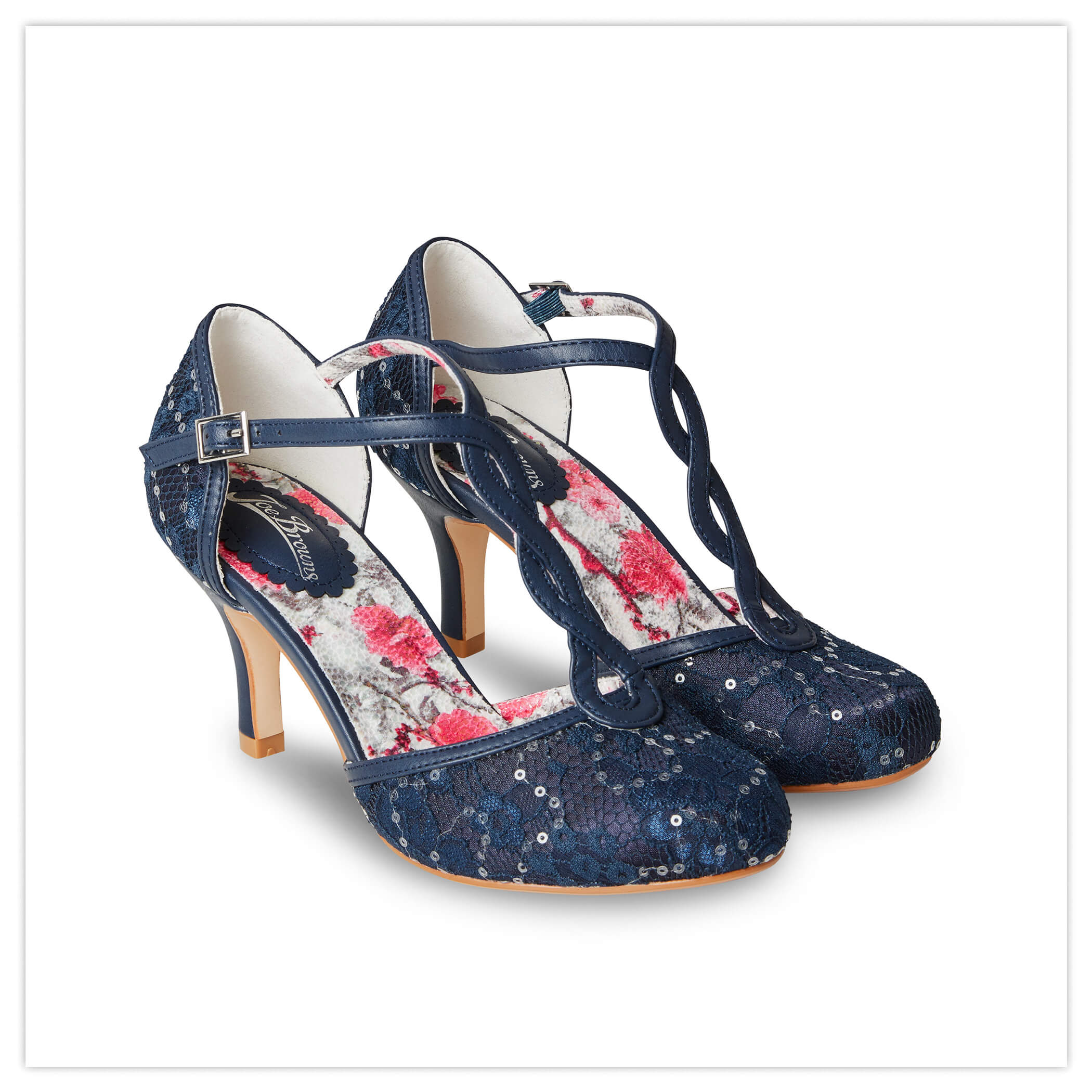 MOONLIT LACE TBAR SHOES