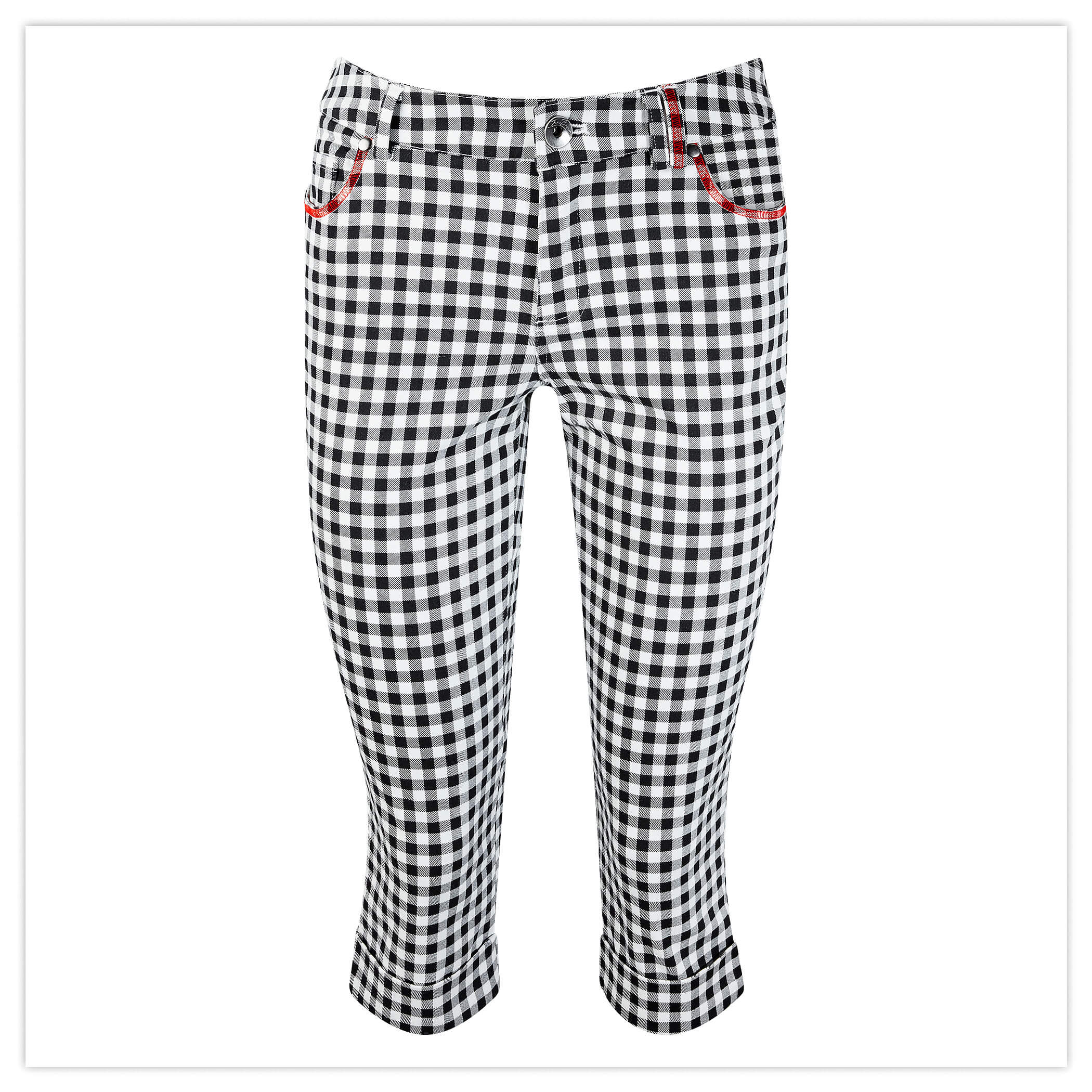 GINGHAM CAPRI PANTS