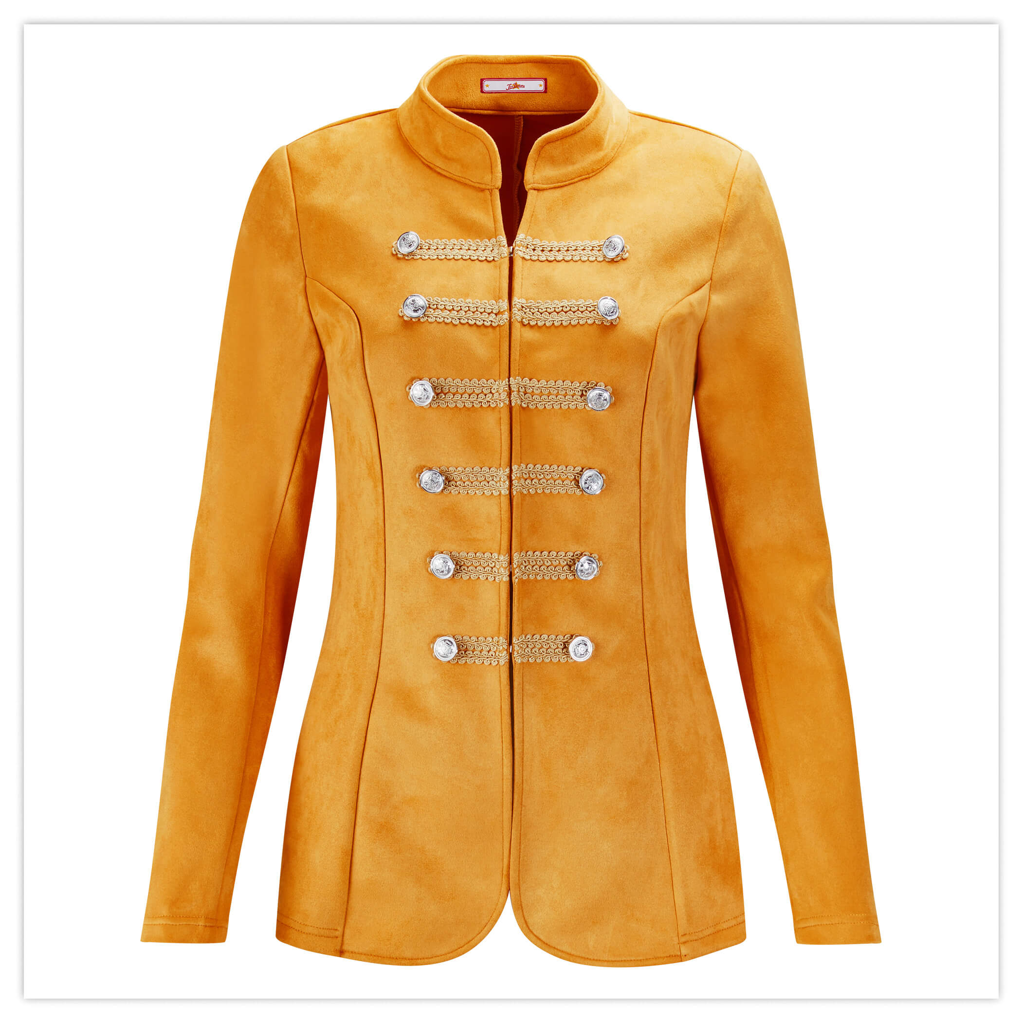 suedette military jacket