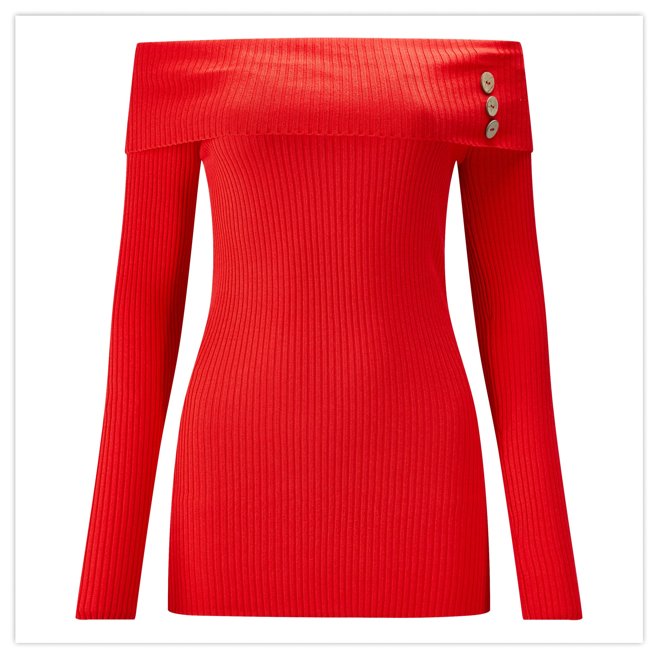Flattering Ribbed Jumper