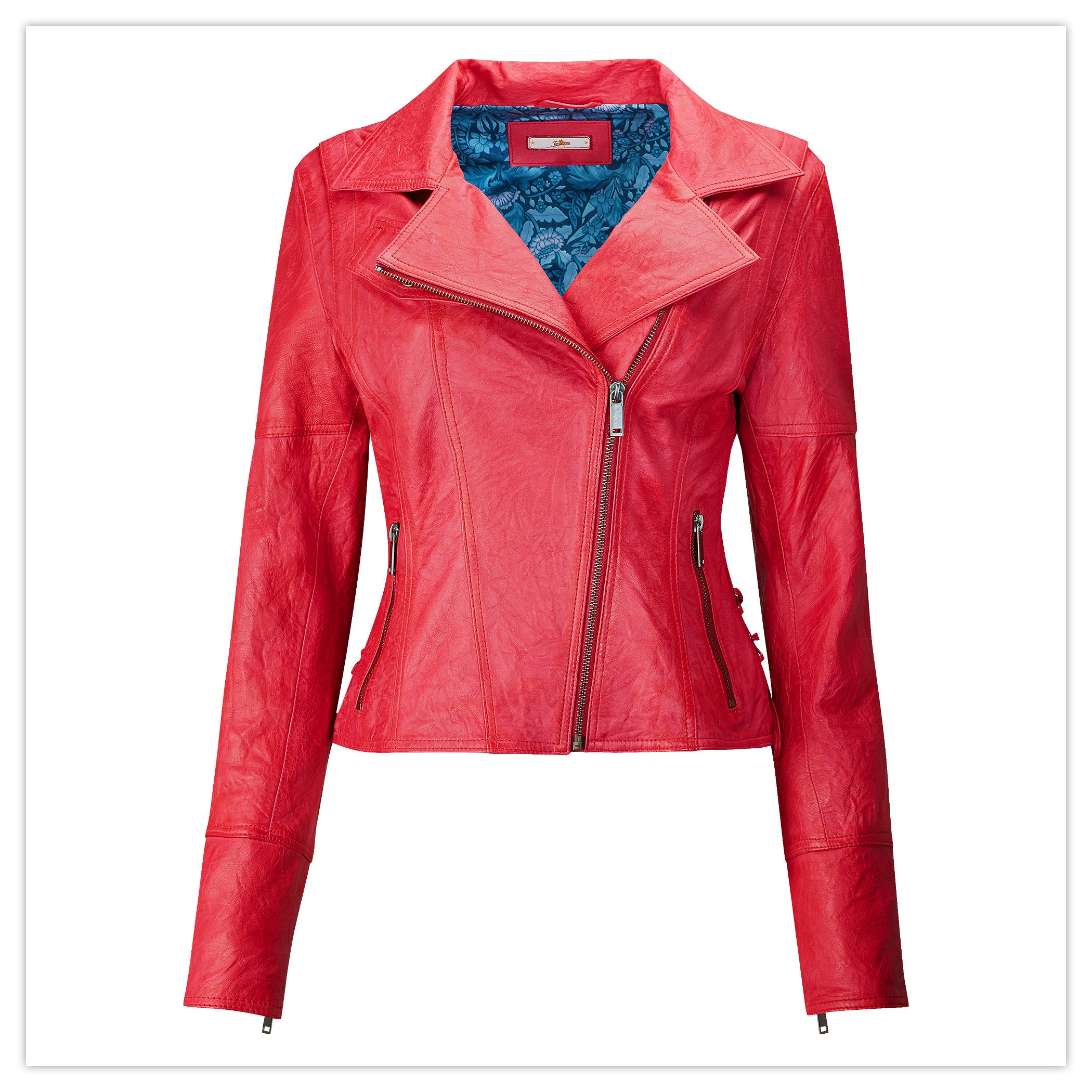 Joe's Funky Leather Jacket in Pink