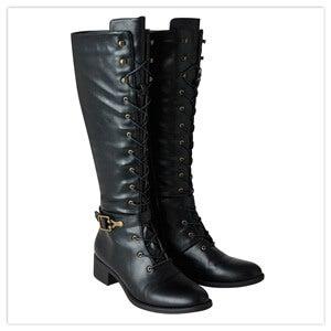 Joe Browns Black Twice As Nice Lace Up Boots