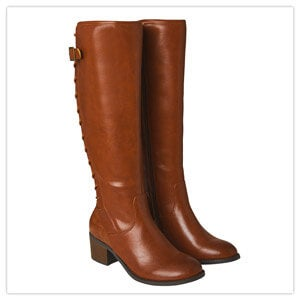Joe Browns The Latest Lace Back Boots in Tan