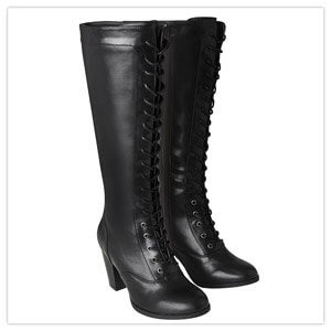 Joe Browns Move On Tall Lace Up Black Boots