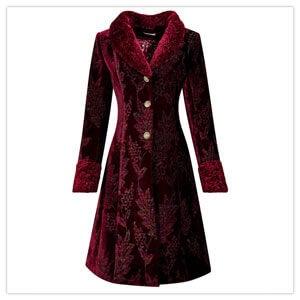 Joe Browns Jacquard Velvet Coat