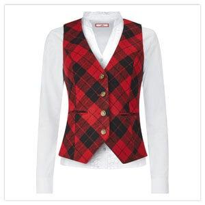 Cherry Check Waistcoat