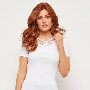 Joe Browns Basic Crossover Women's T-Shirt in White