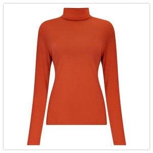 Joe Browns Jersey Roll Neck Top in Orange