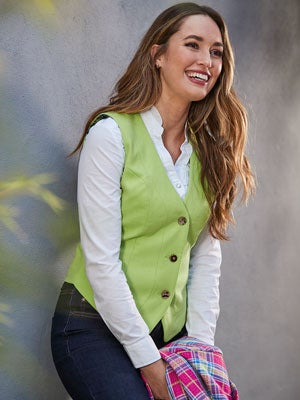 Joe Browns Stand By Me Waistcoat in Lime