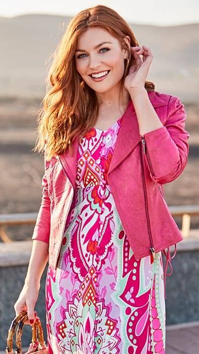 Joe Brown's Funky Pink Leather Jacket
