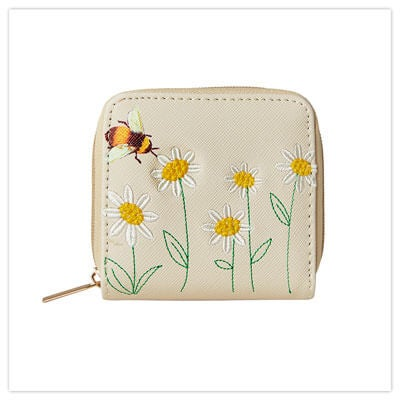 Joe Browns Bee Daisy Embroidered Purse