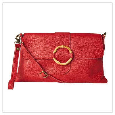 Joe browns In Florence Red Leather Bag