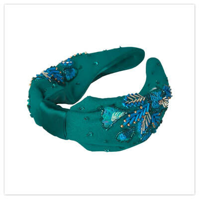 Joe Browns Coral Reef Sparkle Headband in Teal