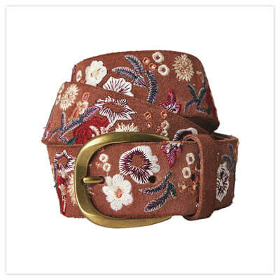 Joe Browns Ibiza Town Embroidered Leather Belt