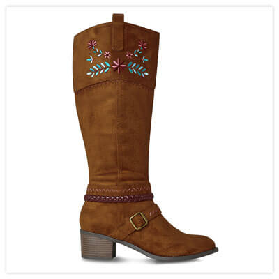 Joe Browns California Dreams Embroidered Suede Boots