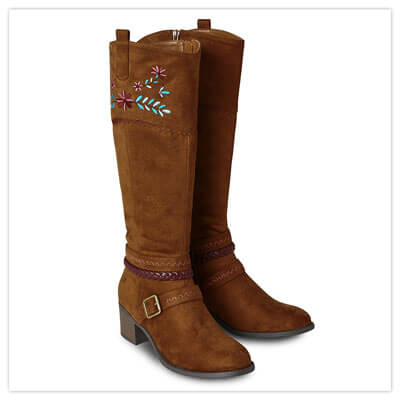 Joe Browns California Dreams Embroidered Brown Boots