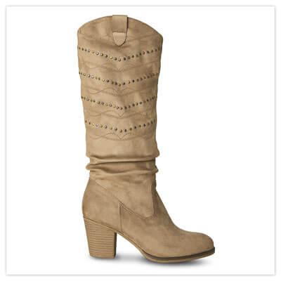 Joe Browns Portobello Studded Boots in Tan