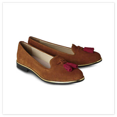 Joe Browns Manor Row Suede Loafers in Tan