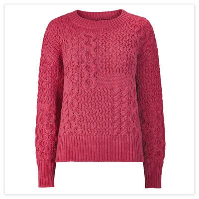 Joe Browns Pink Cable Jumper