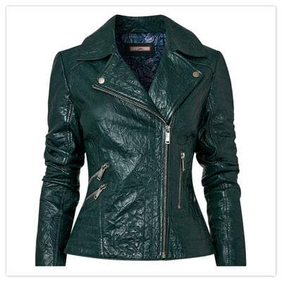 Joe Browns Uniqie Leather Jacket in Teal