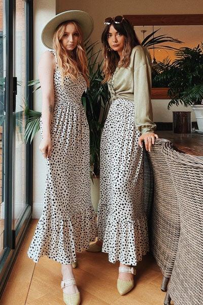 Joe Browns Dalmatian Print Tiered Maxi Dress