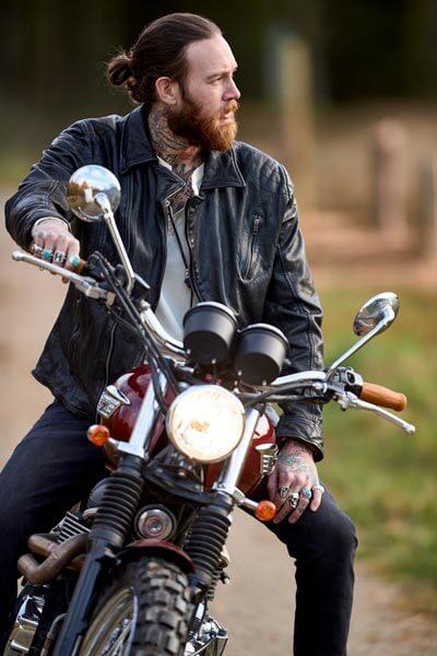 Joe Browns Burner Black Leather Jacket