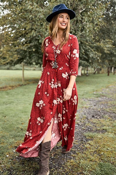 Joe Browns Beautiful Boho Dress with Hat and Boots