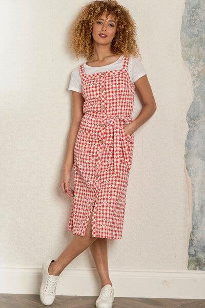 Gingham & Daisies Dress