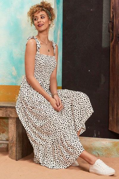 Joe Browns Dalmatian Print Polka Dot Dress