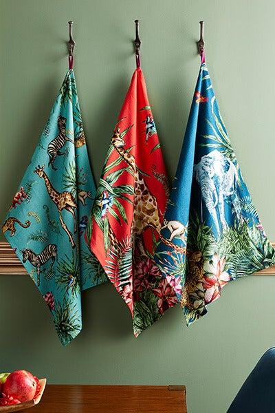 Exotic Safari Set Of 3 Tea Towels
