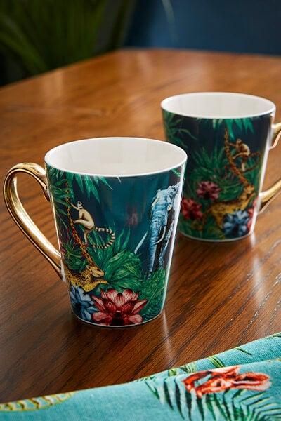 Luxurious Set Of 2 Mugs