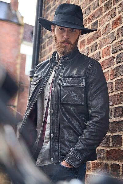 Joe Browns Men's Black Leather Jacket